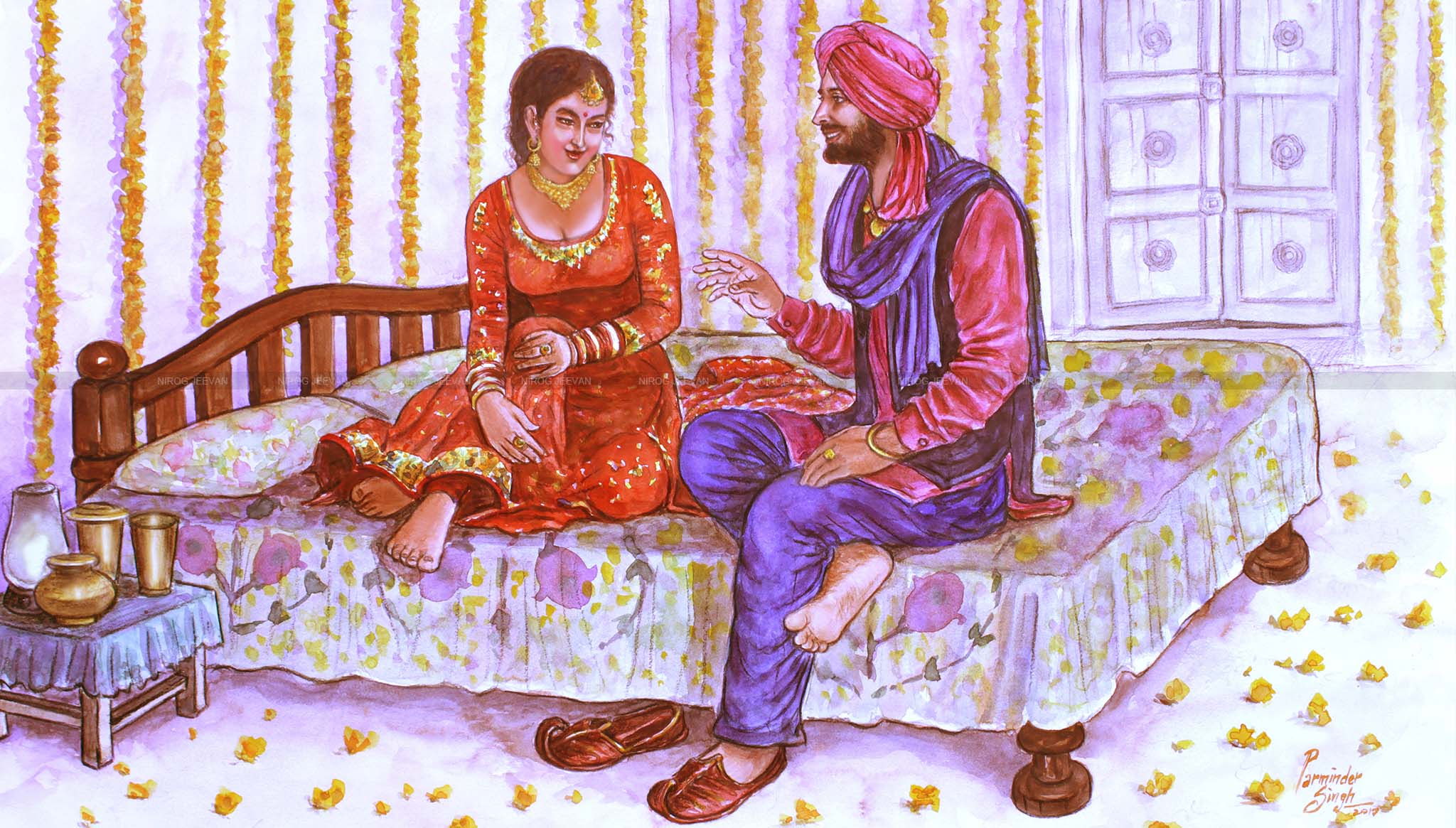 punjabi-couple-suhag-raat